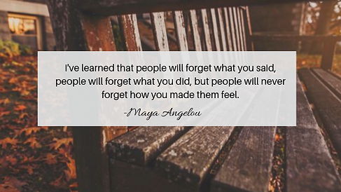 I've learned that people will forget wha