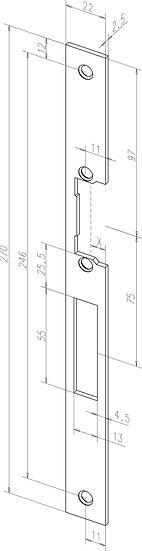Flach-Schliessblech I Universal I -------46740-01