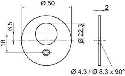 Rosette rund I RZ I 1514-24C