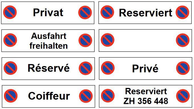 Massives Parkplatzschild