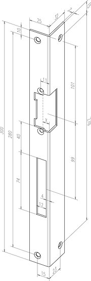 Winkel-Schliessblech I Universal I -------46001-0#