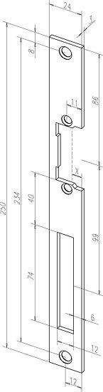 Flach-Schliessblech I Universal I -------31135-01