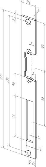 Flach-Schliessblech I Universal I -------42640-01