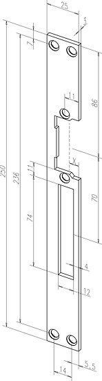 Flach-Schliessblech I Universal I -------26440-01
