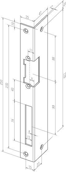 Winkel-Schliessblech I Universal I -------42235-0#