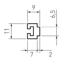 Triebarm 6,5 x 9mm I 81530.1