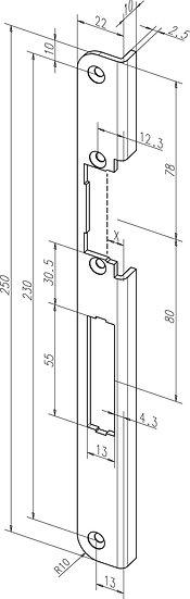 Winkel-Schliessblech I -------78A35-0# effeff-ProFix 2