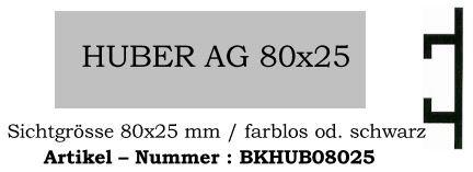 Huber 80x25mm