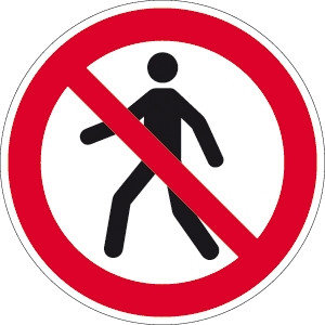 Fussgänger verboten