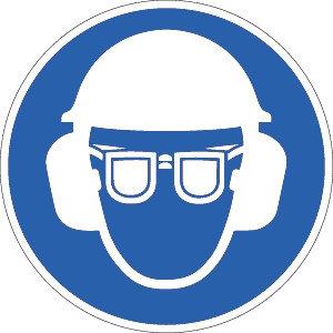 Helm, Sicht und Gehörschutz