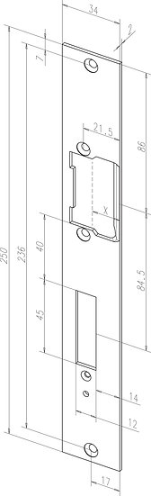 Flach-Schliessblech I -------85135-0# für Modell 878