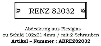 Abdeckung Renz I 102x21.4mm