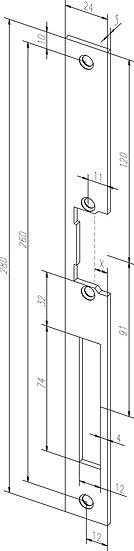 Flach-Schliessblech I Universal I -------39402-01