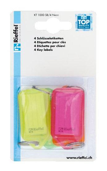 Schlüsseletiketten I 1000 Neon