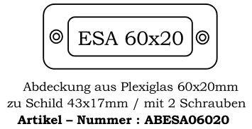 Abdeckung ESA I 60x20mm