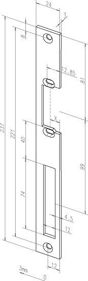 Flach-Schliessblech I -------31835-0# mit Fix-Rillen