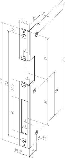Winkel-Schliessblech I Universal I -------50235-0# I gerundet