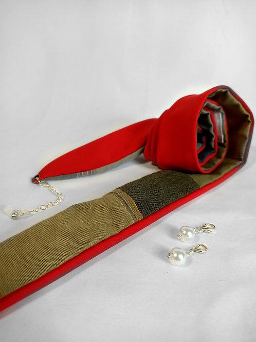 Le ruban rouge/tartan
