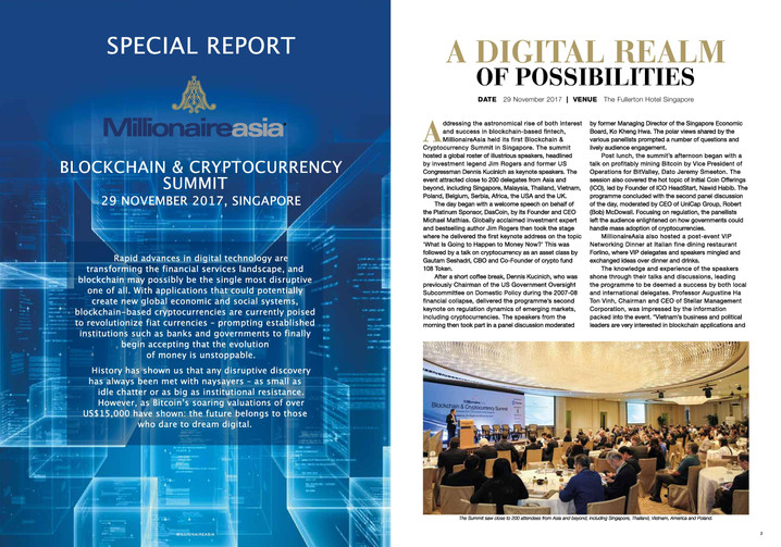 MillionaireAsia Blockchain & Cryptocurrency Summit Special Report