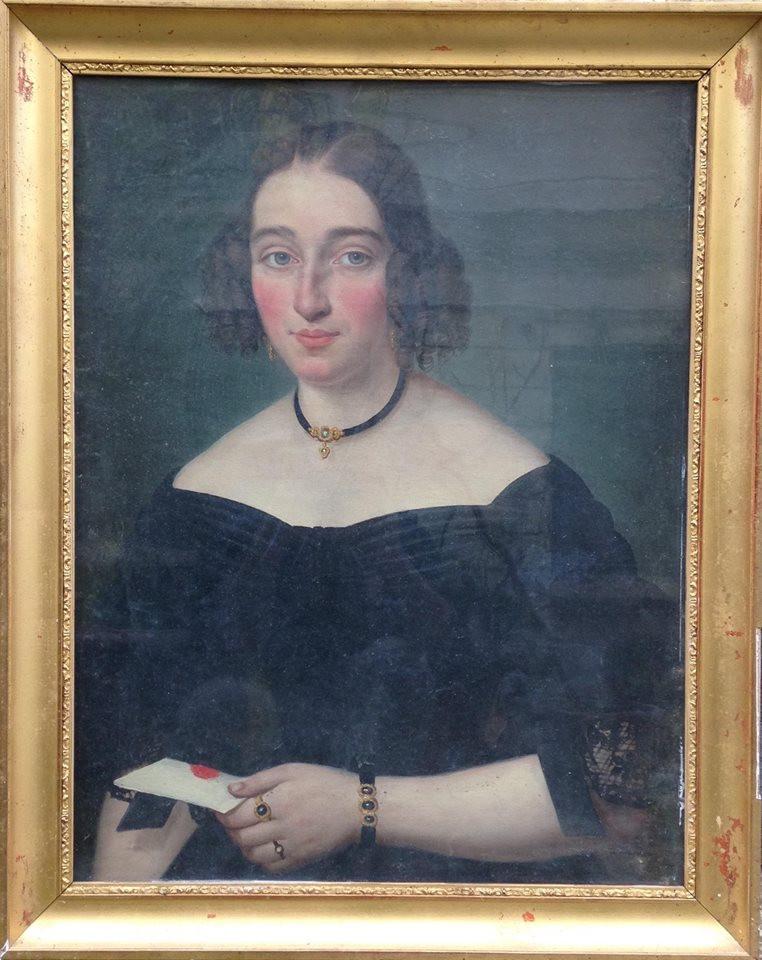 Valentini Rossetti (?), Elegante à la lettre, sans date