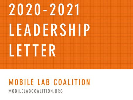 2020-2021 Leadership Letter