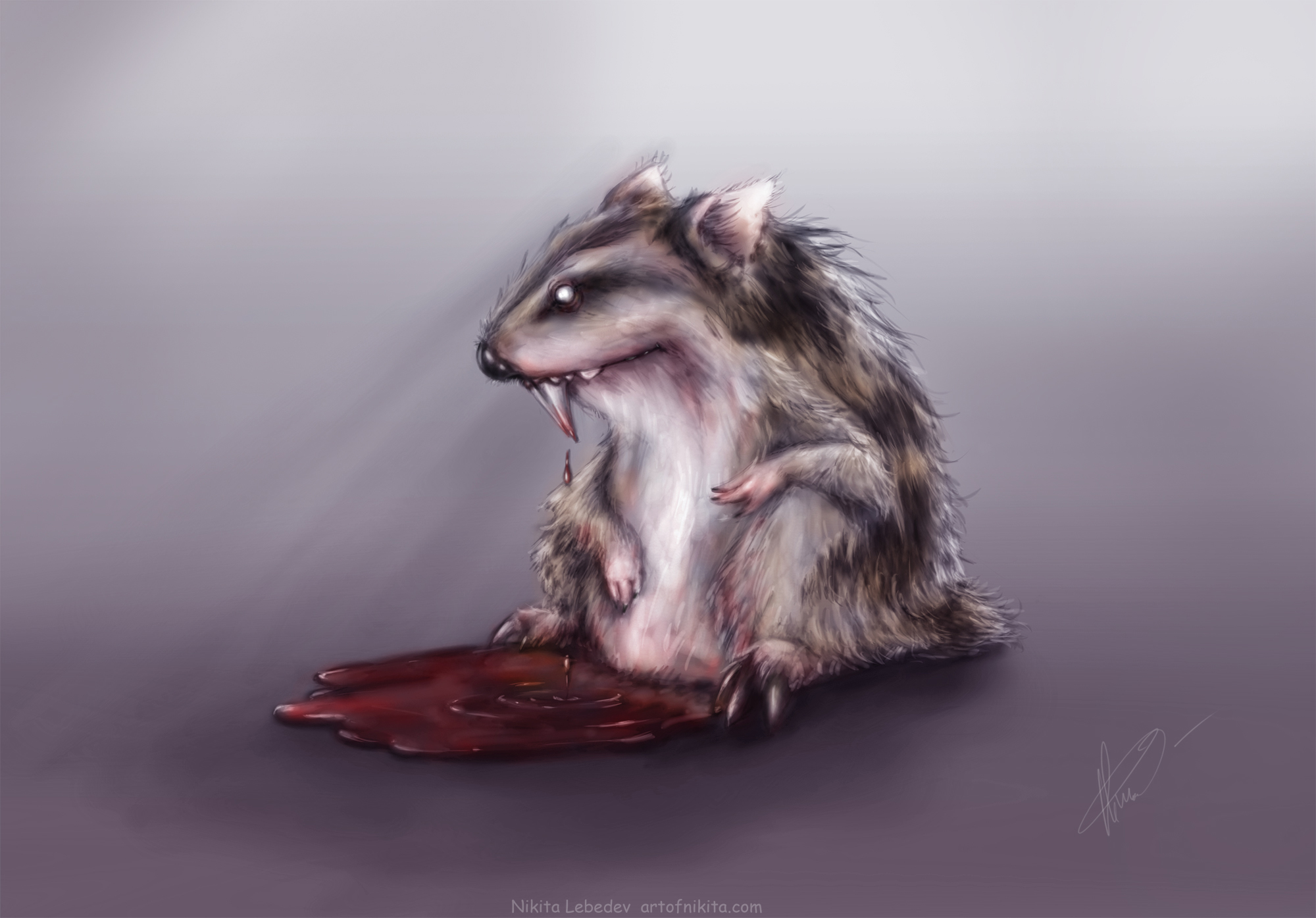 Blood thirsty hamster
