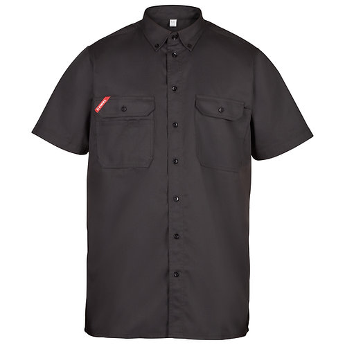 Skjorte kort ærme grå | Hemd kurzärmelig grau