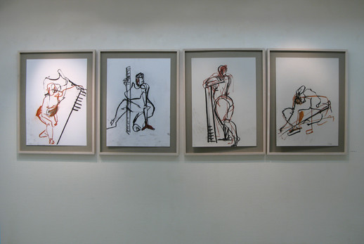 Falmenska galleriet, 47 teckninga i tre rum