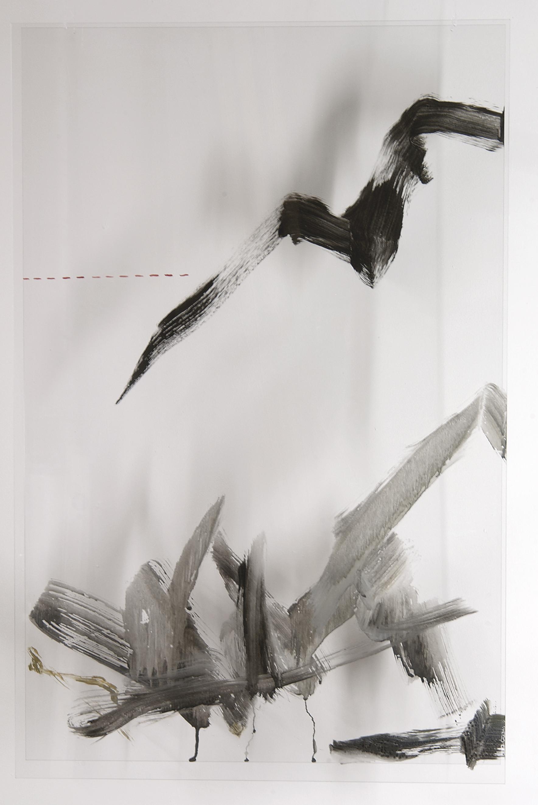 Fågel svart