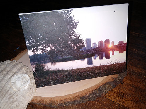 Skyline Sunrise Blank Greeting Card