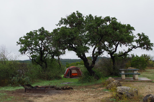 Camping at Pace Bend