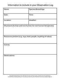Observation Log Background Information