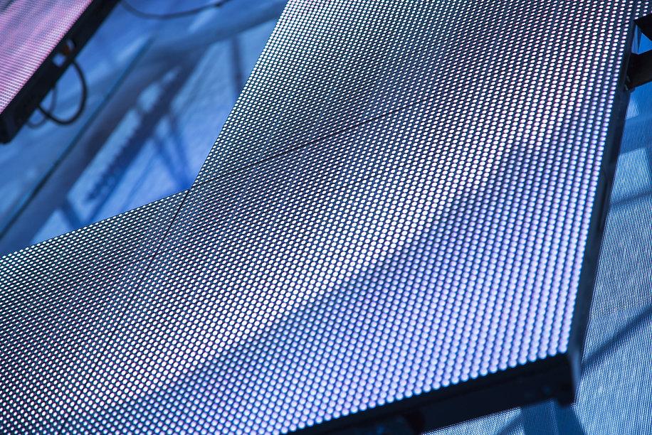 Outdoor modular LED panels as a decorati