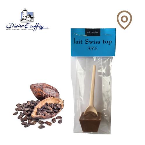 Cuillère en chocolat - Lait Swiss Top 35% Chocolat au Lait - 1pce