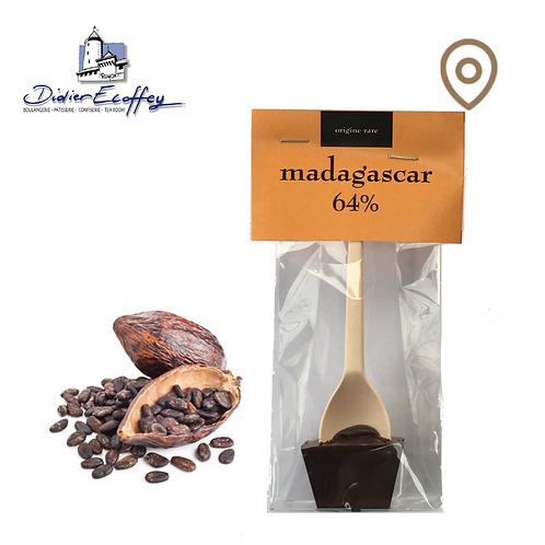 Cuillère en chocolat - Madagascar 64% Chocolat Foncé - 1pce