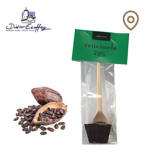 Cuillère en chocolat - Vénézuela 70% Chocolat Foncé - 1pce