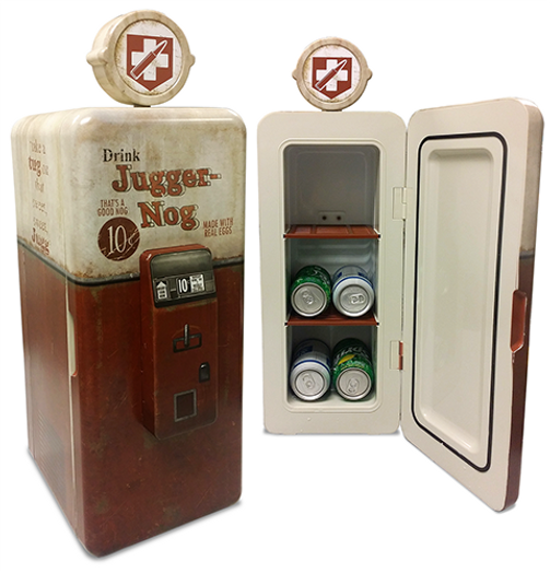 Specialty, custom Juggernog mini fridge with lights and sounds from Call of Duty: Black Ops III CE.