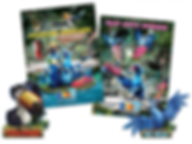 Rio 2 & Stride Rite Movie Promotion, Bright posters and die-cut displays featuring Blu and friends.