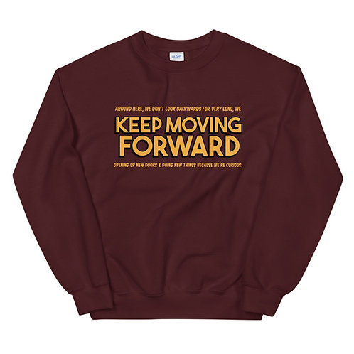 keep moving forward sweater