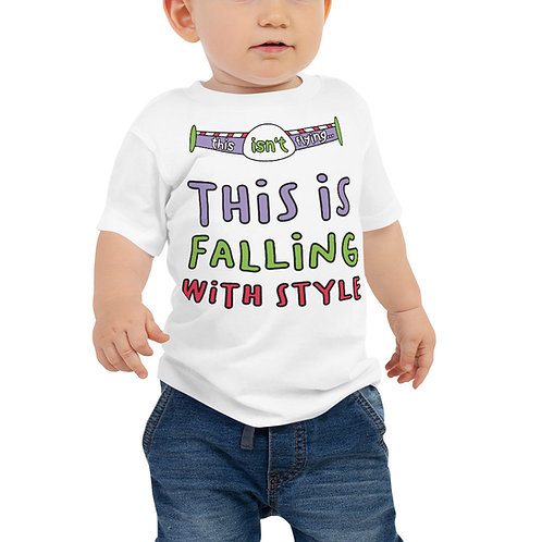 falling with style baby tee