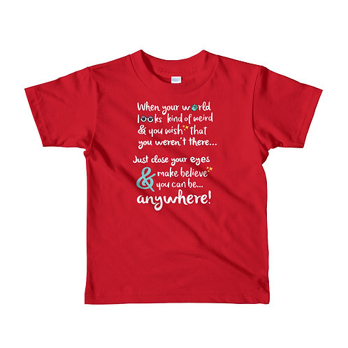 close your eyes & make believe kids tee