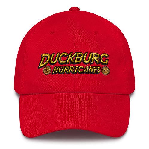 duckburg hurricanes hat (red, blue, bright pink)