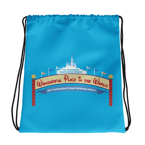 parkhopper reversible drawstring bag