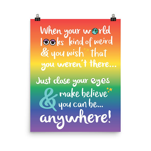 close your eyes & make believe print