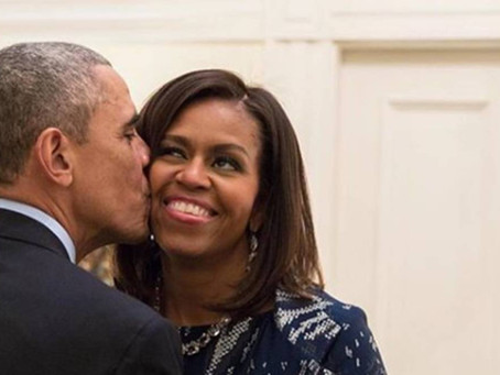 MICHELLE OBAMA TALKS ABOUT WHAT IT TAKES TO STAY MARRIED.