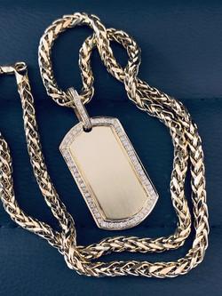 Italian Link Necklace with SFJ Diamond Pendant