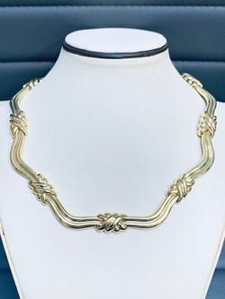 18kt Gold Italian Link Necklace