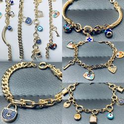 14 Kt. Gold Charm Bracelets