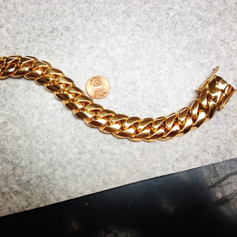 14kt. Rose Gold Cuban Link