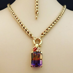 Italian Link Necklace with Pendant